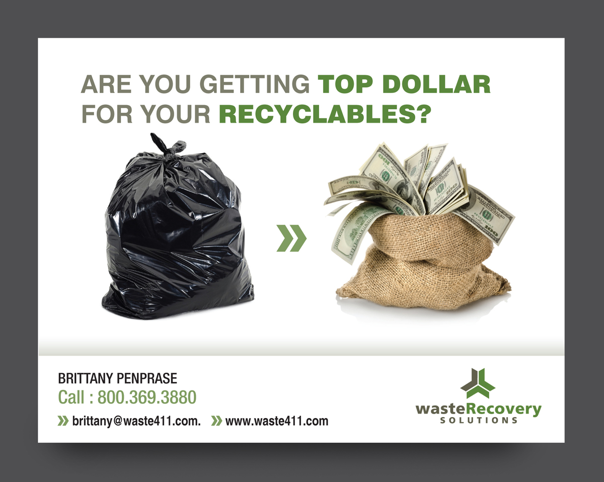 it company postcard design for waste recovery solutions by rkailas