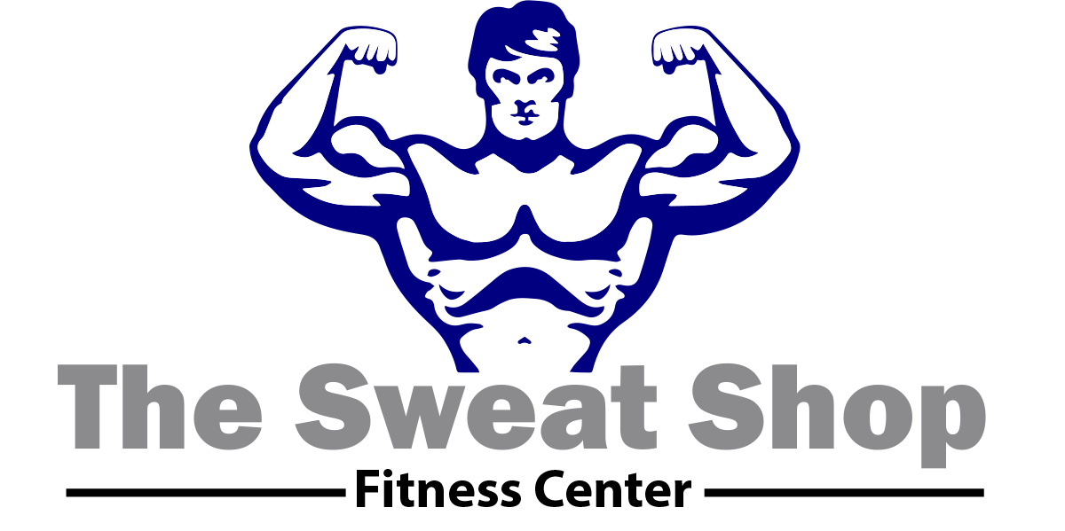 fitness logo design for the sweat shop fitness center by