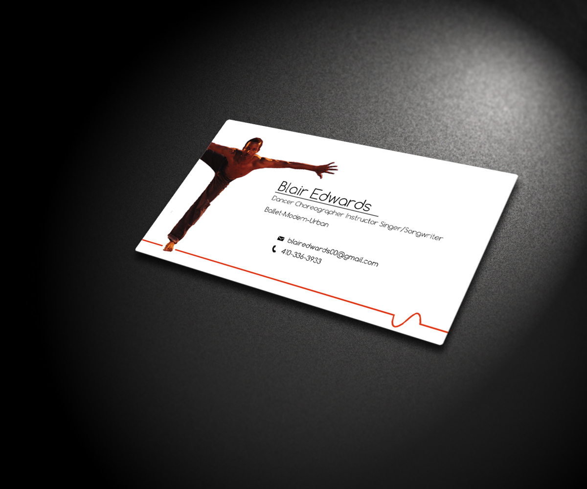 Modern masculine business card design for tarell tonev by design7 business card design by design7 for entertainerdancer business cards design 3918215 magicingreecefo Images