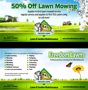 Flyer Design by QadirKhan - freedomlawns@hotmail.com