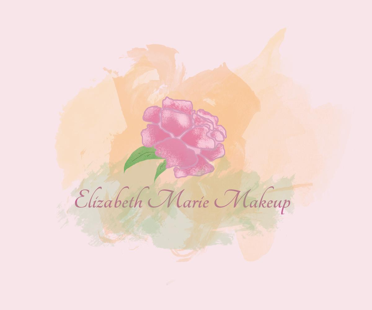 Elizabeth Maire Makeup Watercolor Logo Design by Lorenzo Vizin
