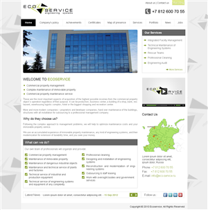 Web Design by Desire Design Solutions - Web Design Project: Facility Management company