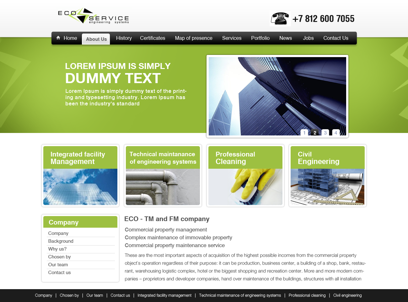 Professional Upmarket Industrial Web Design For A Company By