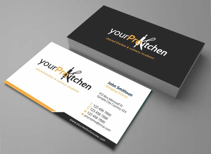 Bold Playful Business Business Card Design For Your Pro Kitchen