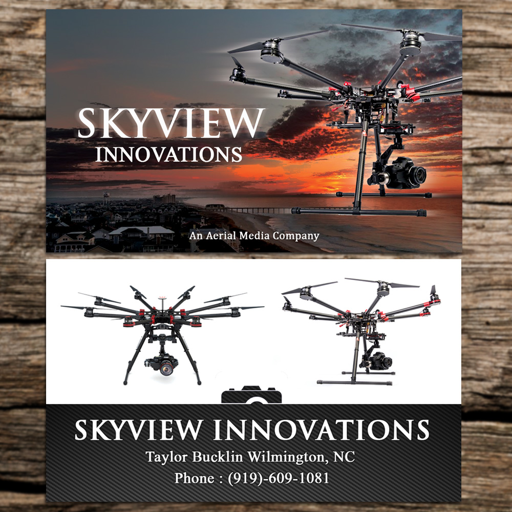 Modern, Serious Business Card Design for SkyView Innovations by ...