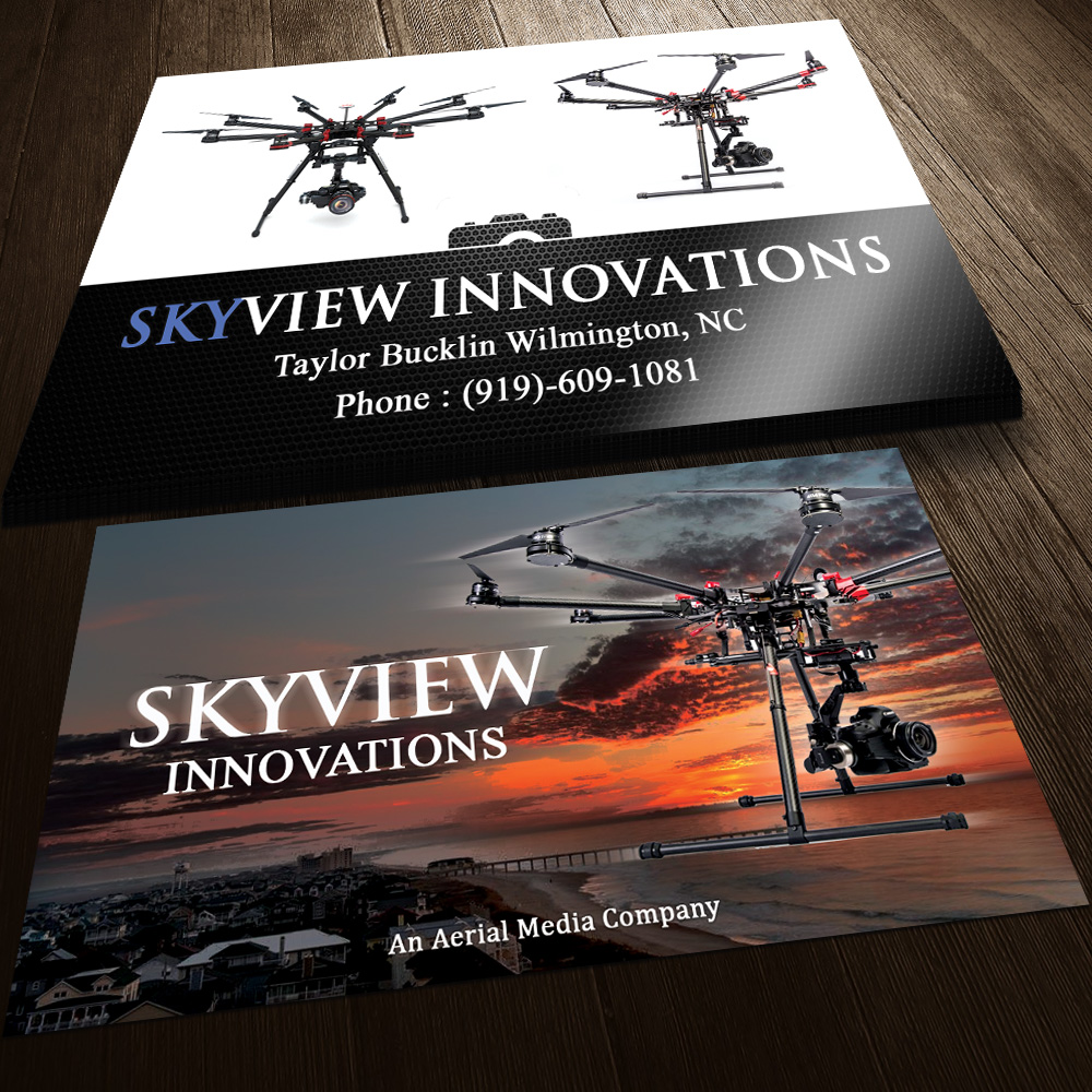 Modern serious camera business card design for skyview innovations business card design by sandaruwan for skyview innovations design 3871033 reheart Images