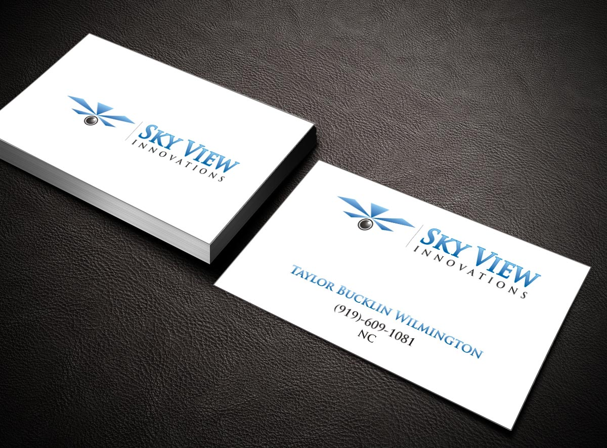 Modern serious business card design for skyview innovations by business card design by poonam gupta for solarcity business cards design 3869750 reheart Choice Image