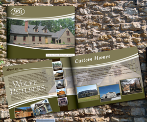 Brochure Design by TedAtkinson - Wolfe Builders Brochure