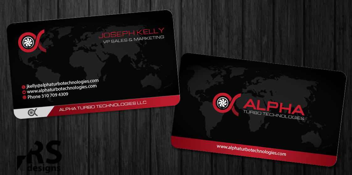 Bold serious industrial business card design for alpha turbo business card design by rs designs for alpha turbo technologies design 3911784 colourmoves
