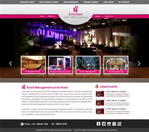 Web Design job – Events Management Webpage – Winning design by krishnan