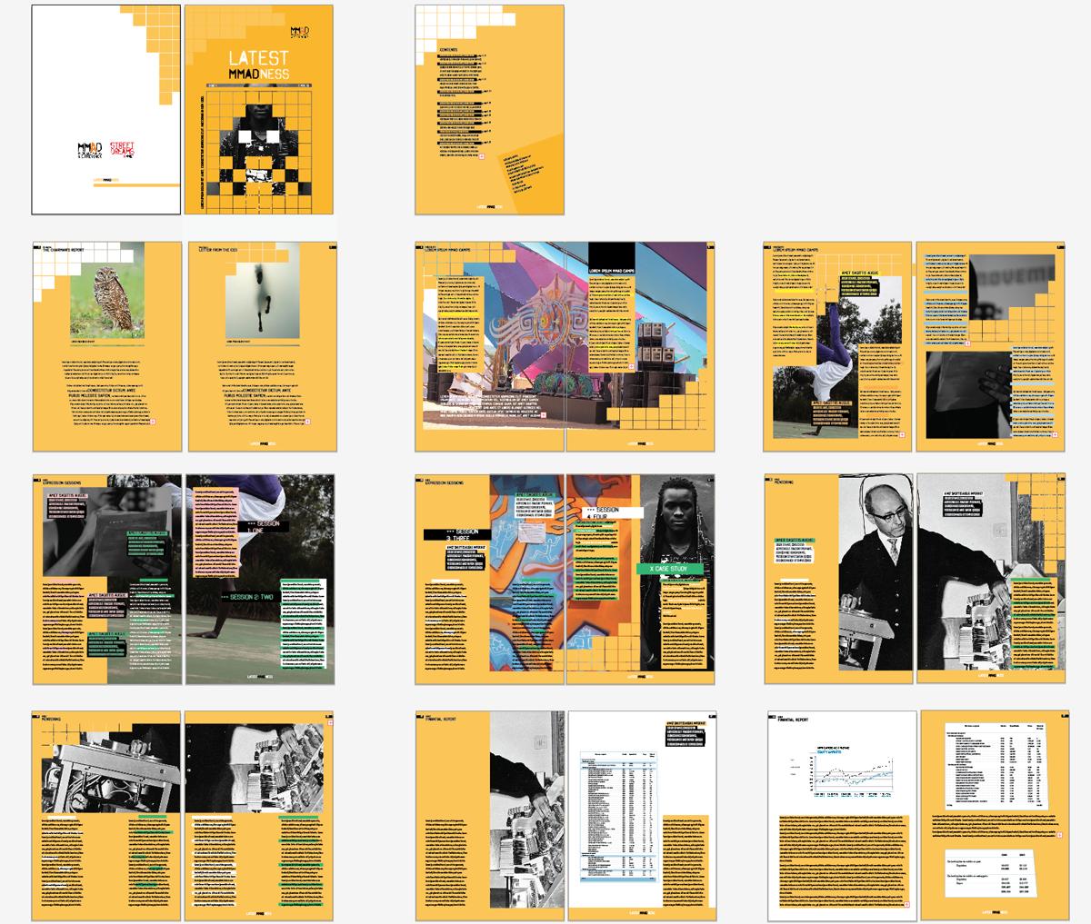 magazine template design
