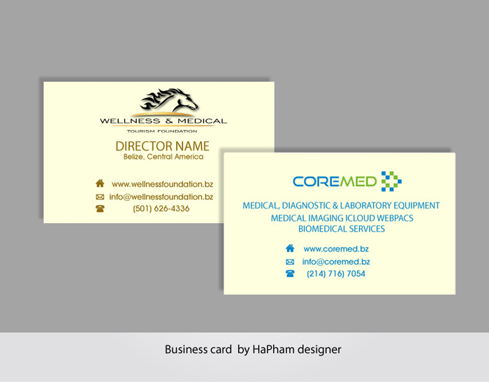 upmarket masculine medical business card design for outback ranch business cards with 2 names