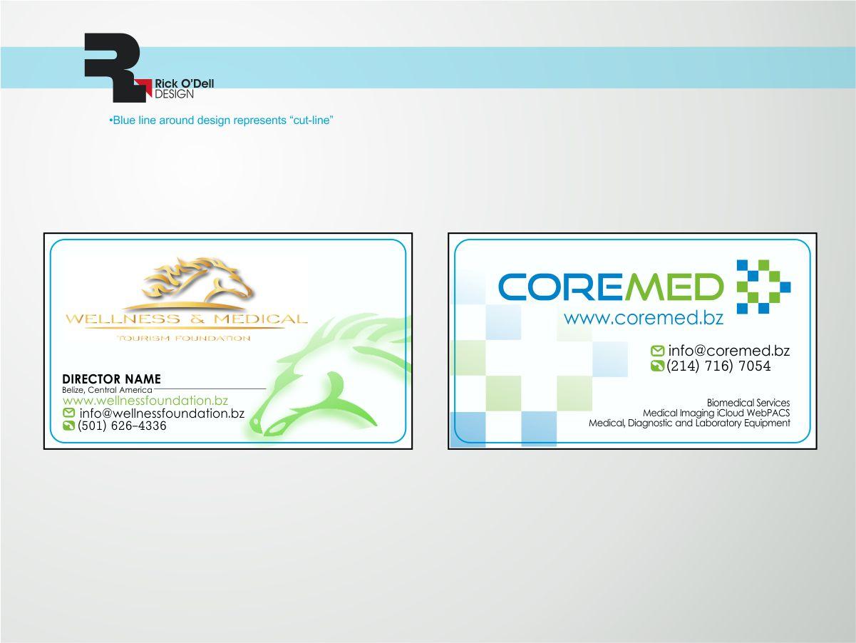 Upmarket masculine medical business card design for outback ranch business card design by rick odell design llc for outback ranch design 3879188 colourmoves