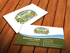 83 different business card designs business business card design business card design by mediaproductionart for crooked creek hops farm design 3902048 colourmoves