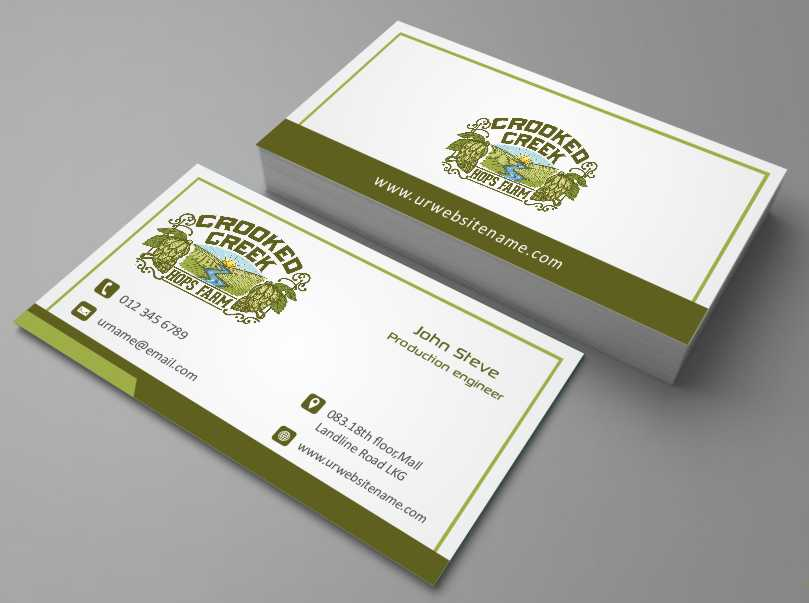 Business Card Design for Crooked Creek Hops Farm by AwsomeD | Design ...