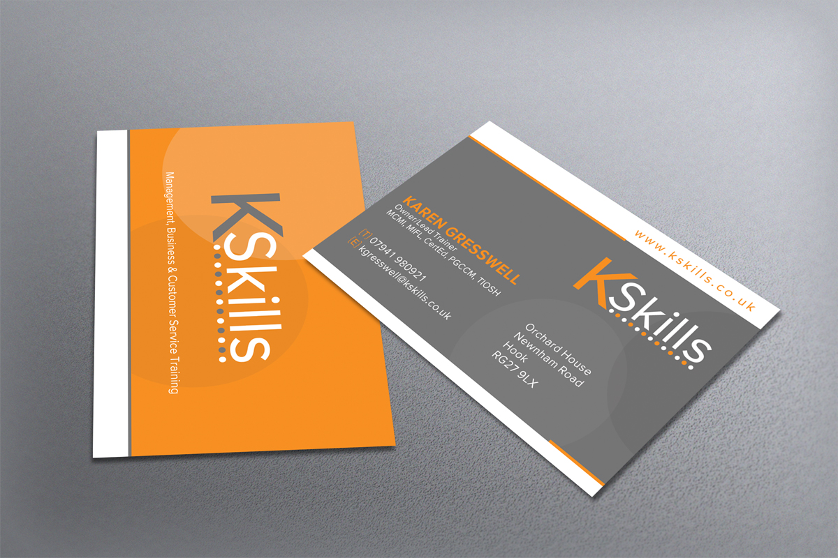 modern upmarket business card design for kskills by dirty