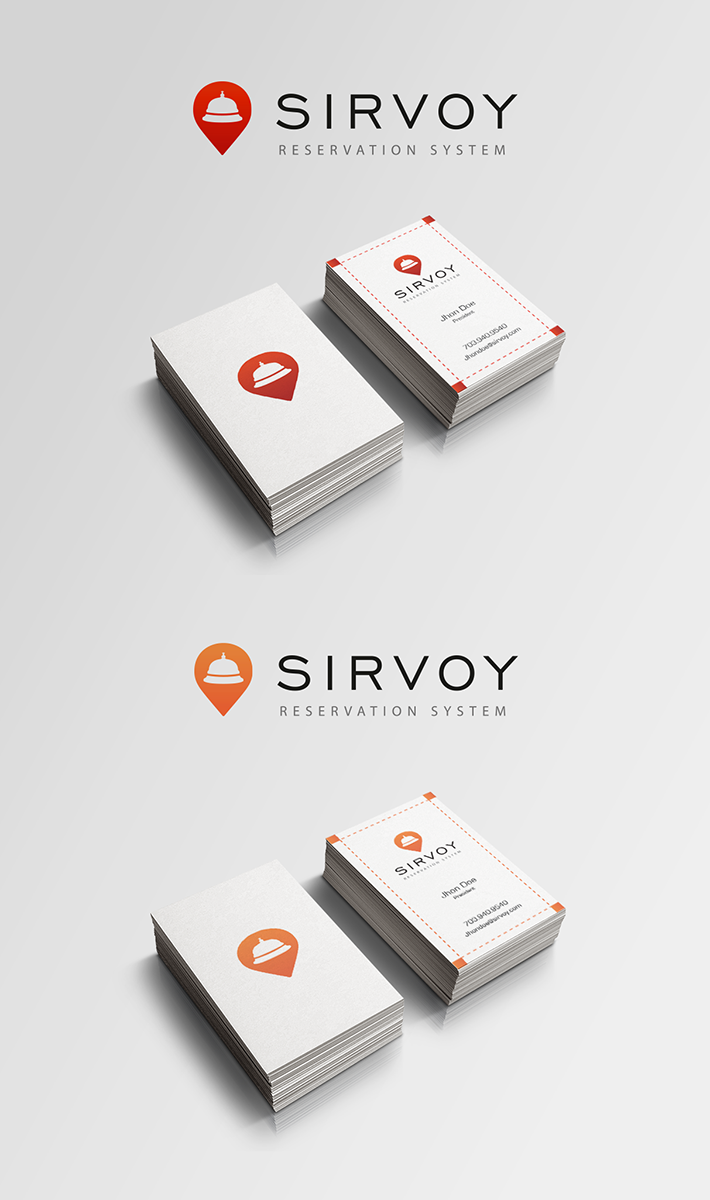Modern colorful logo design for sirvoy ltd by enzzok for Hotel booking design