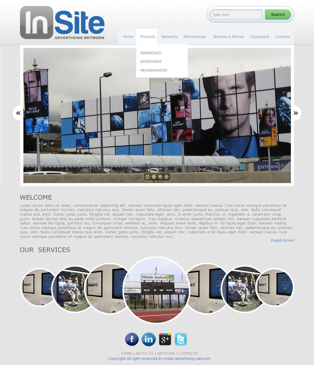 Modern Bold Advertising Web Design For A Company By Mak Grg Design 1065466