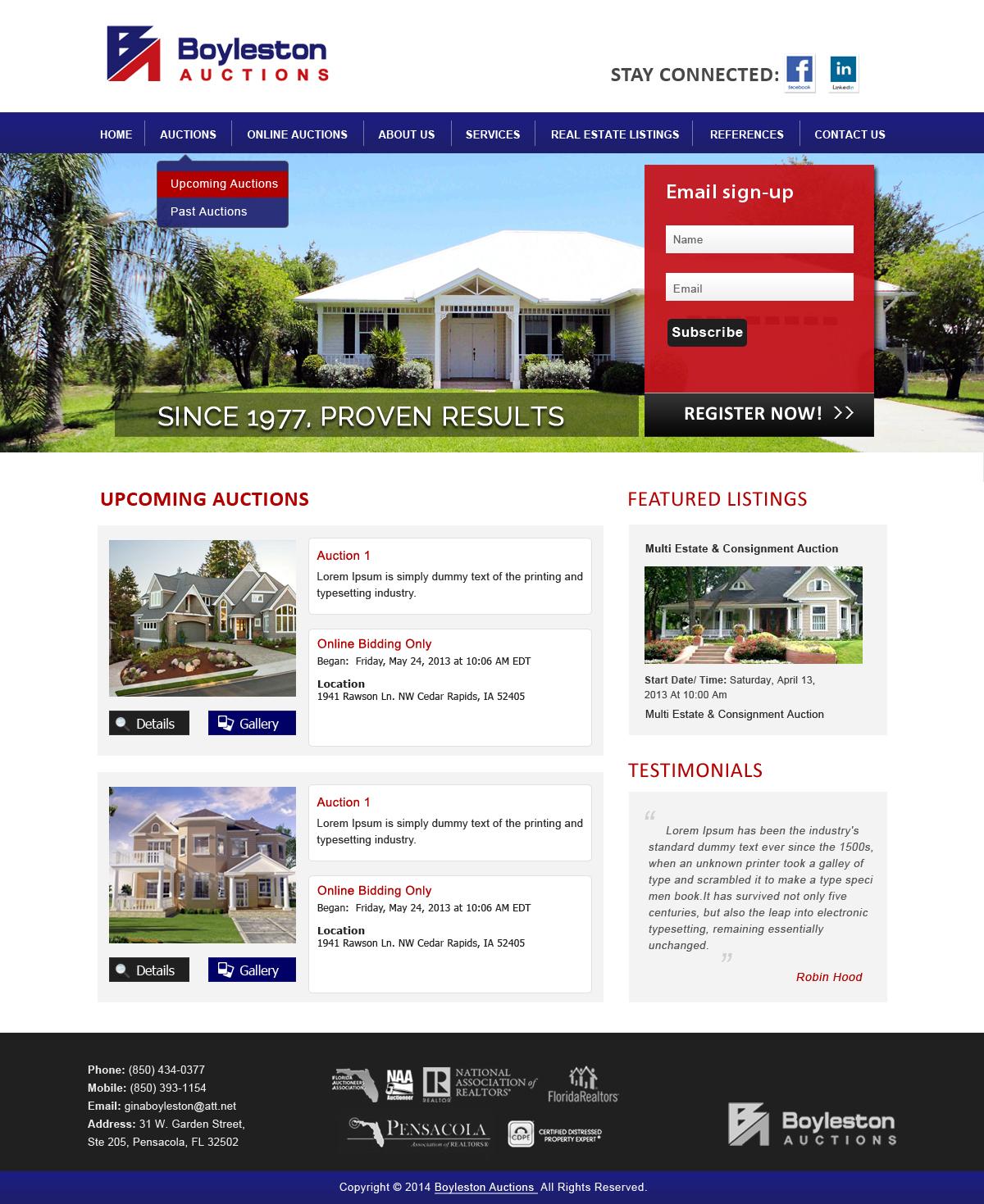 Serious, Modern, Real Estate Wordpress Design for
