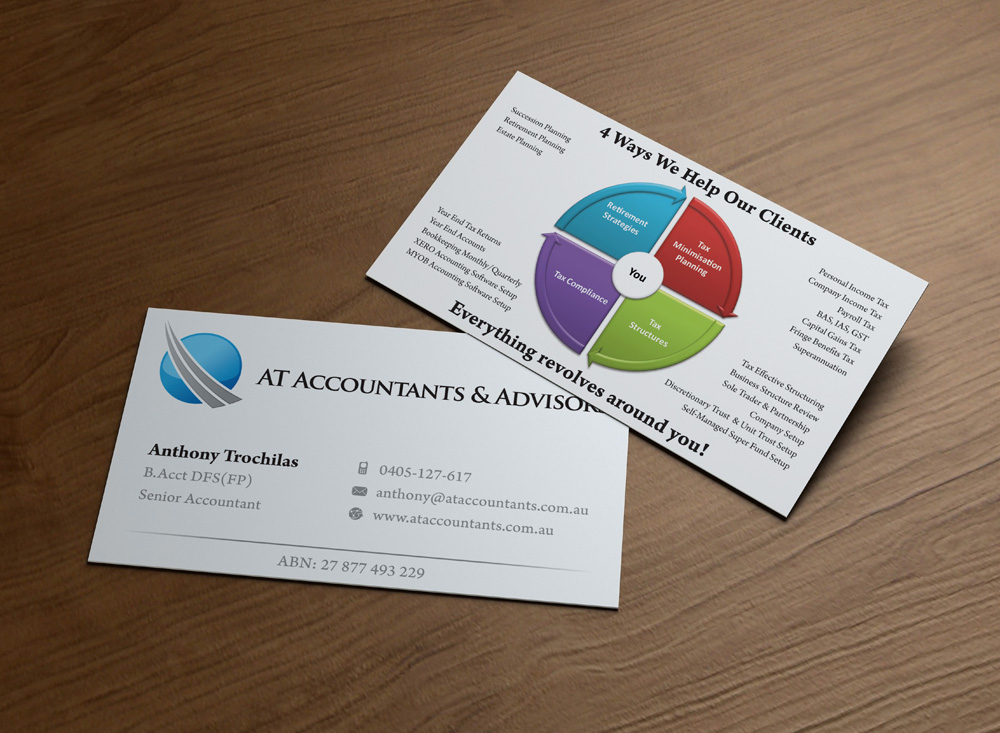 56 Professional Business Card Designs | Accounting Business Card ...