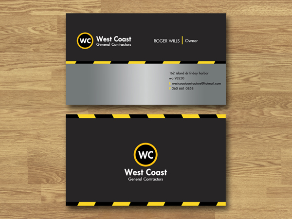 27 bold business card designs construction business card design business card design by adrian p for this project design 135933 reheart Image collections
