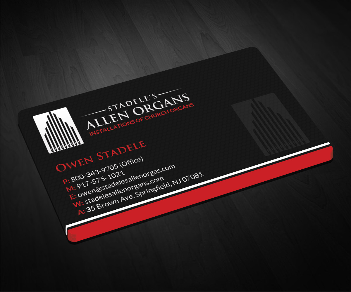 Business card design for owen stadele by smart designs for Church business card designs