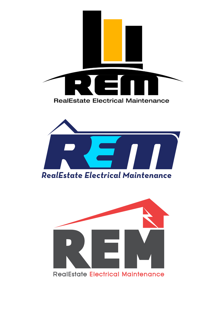 Logo Design By One Day Graphics For REALESTATE ELECTRICAL MAINTENANCE Needs A