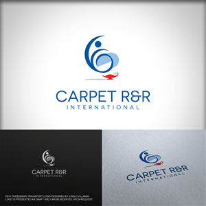 carpet company logo. logo design (design #3985220) submitted to carpet r\u0026r (rehab\u0026restore) international company