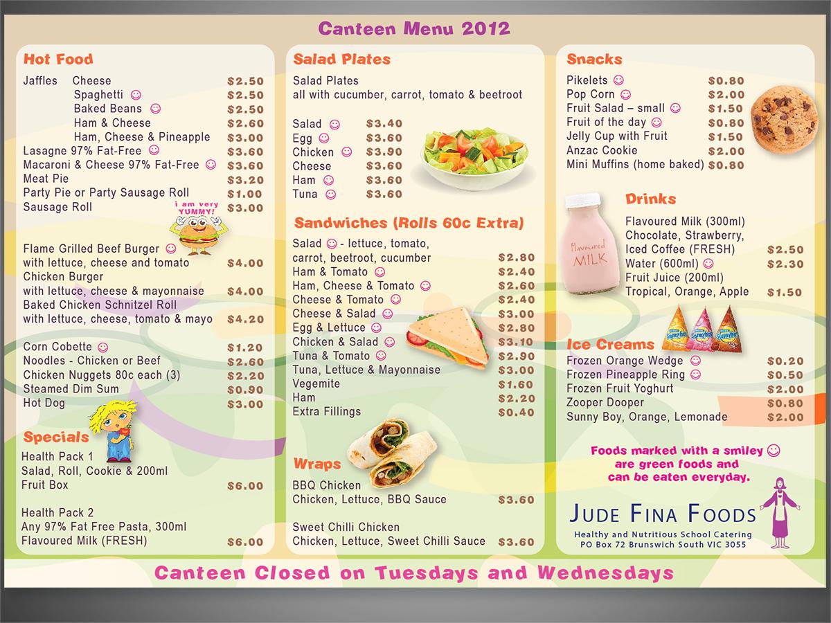 Elegant playful menu design design for leo cullia a for Australian cuisine menu