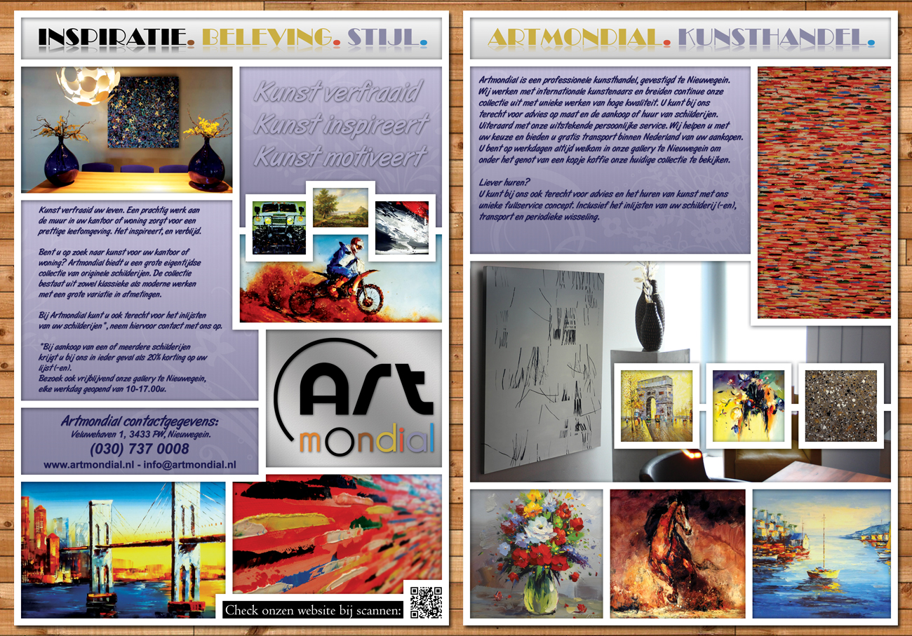 Graphic Design Muur : Modern professional art gallery flyer design for a company by