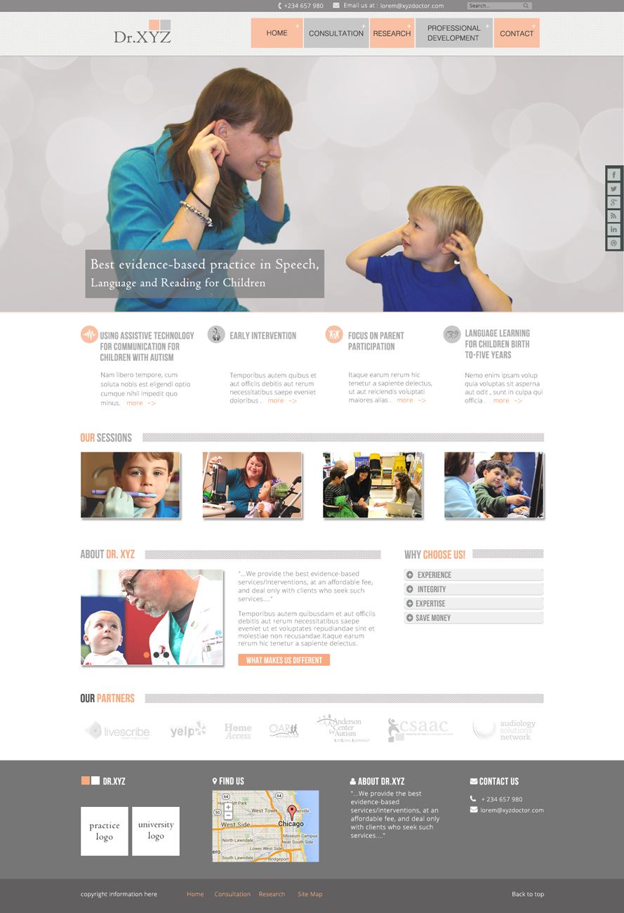 Communication web design for speechcare consultants by da for Web design consultant
