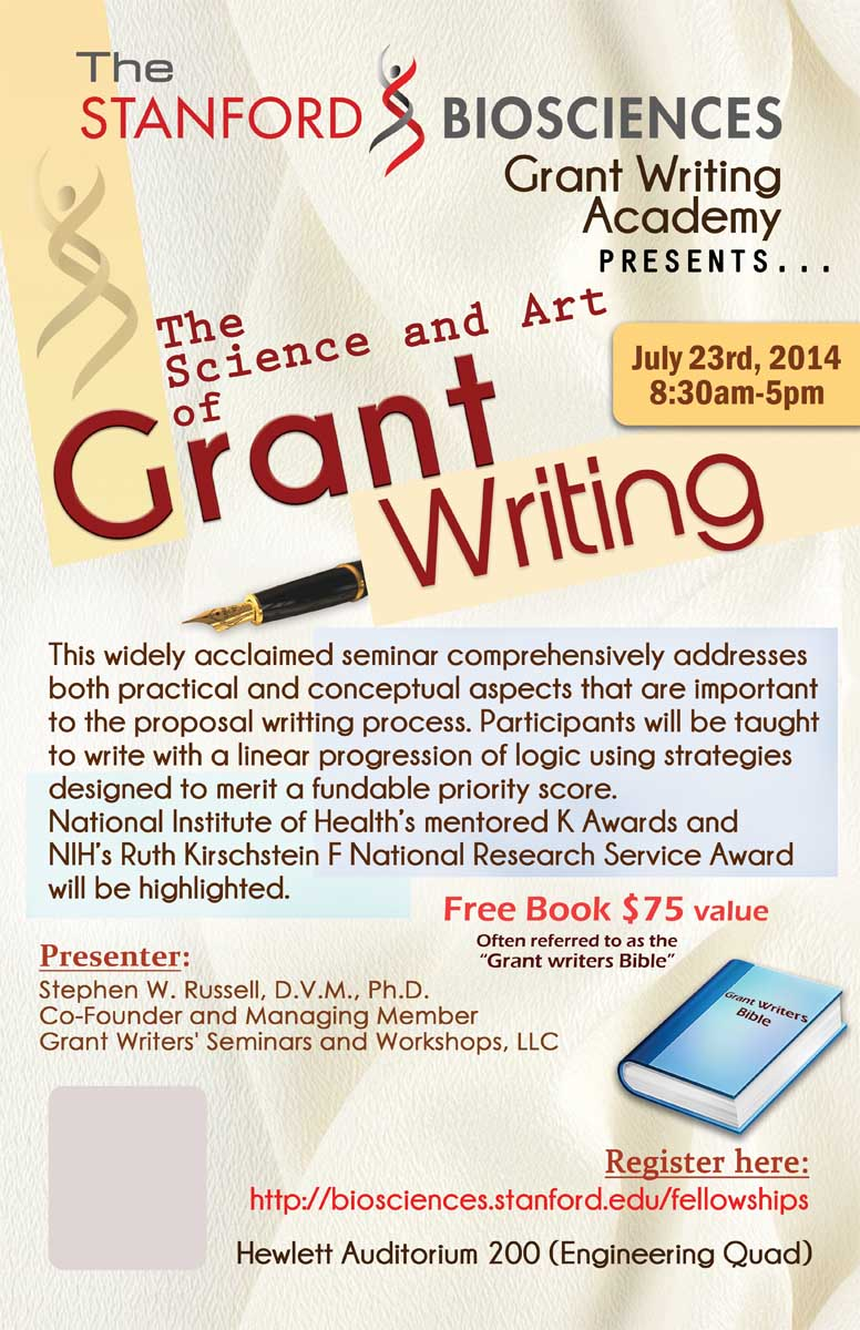Poster design science -  Poster Design For Grant Writing Training Session By Sr Graphics