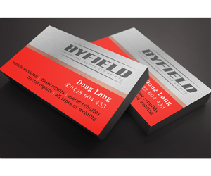 byfield mechanical repairs and welding business card design by see why - Welding Business Cards