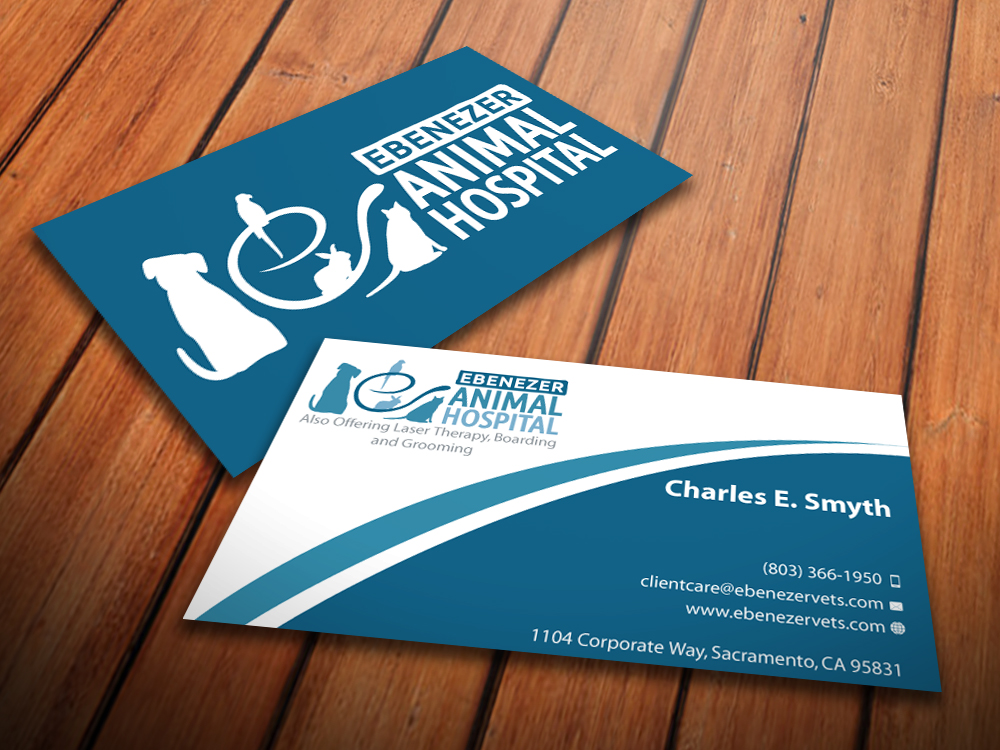 Veterinary business card design for a company by mediaproductionart business card design by mediaproductionart for this project design 3929905 colourmoves
