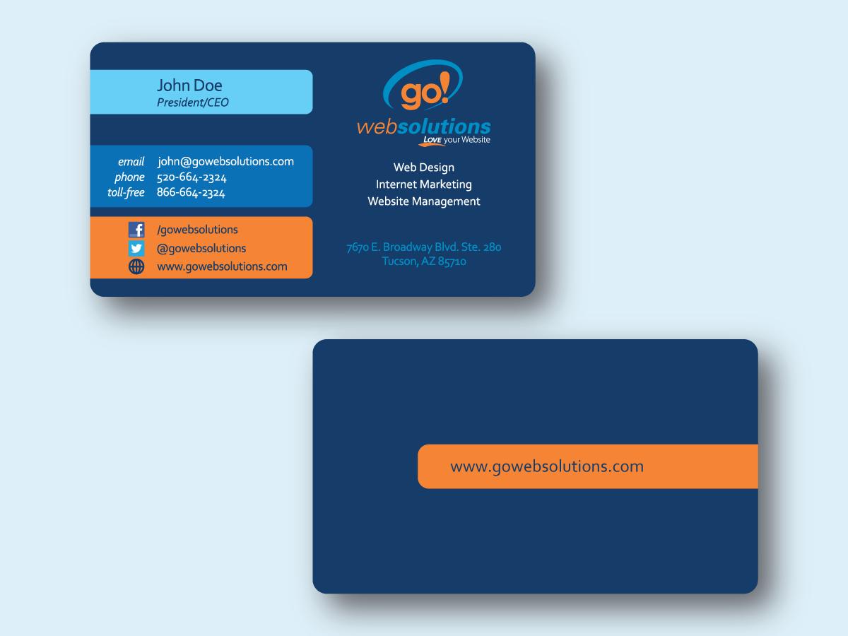 Elegant playful internet business card design for go web solutions business card design by aye4design for go web solutions design 1075771 colourmoves
