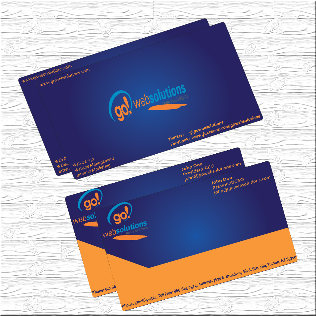 Elegant playful internet business card design for go web solutions business card design by star designer for go web solutions design 1071702 reheart Image collections