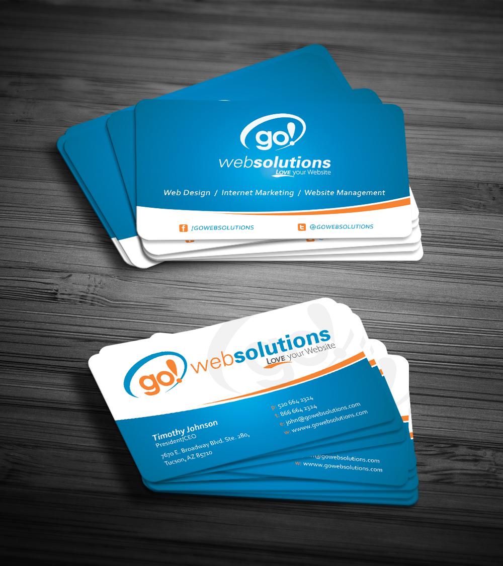 171 elegant business card designs internet business card design business card design by dirtyemm for go web solutions design 1087983 colourmoves