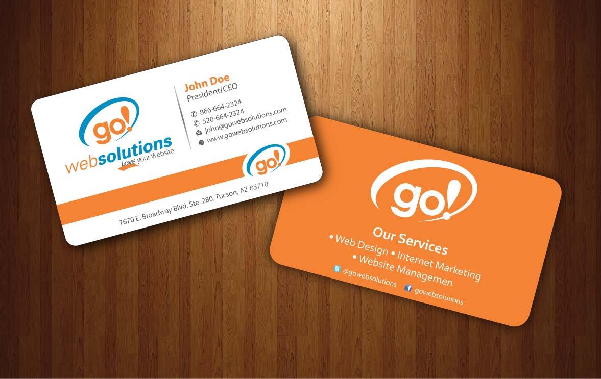 Elegant playful internet business card design for go web solutions business card design by sbss for go web solutions design 1052645 reheart Image collections
