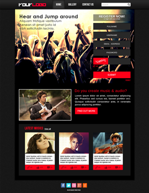 Web Design by Design Zone - Music Web page