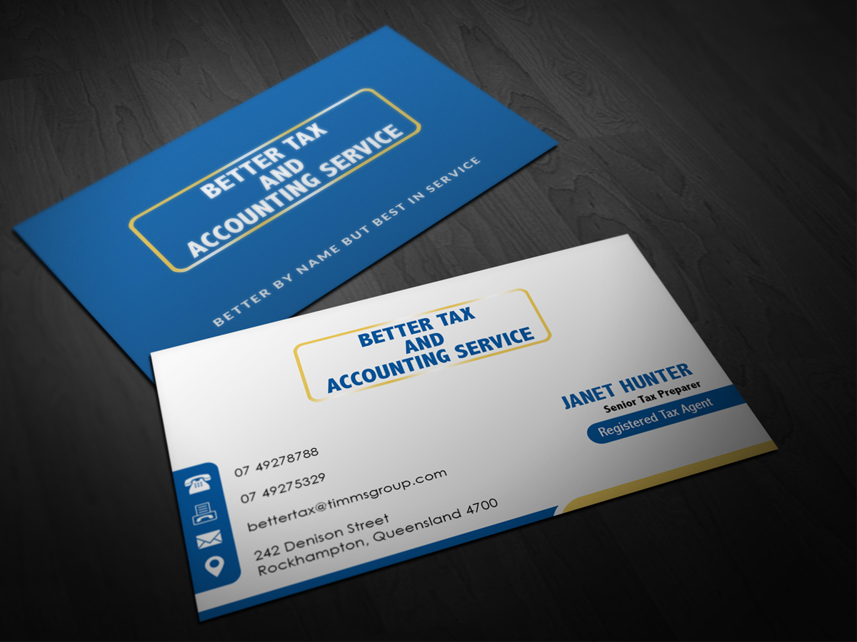 Business business card design for better tax and accounting service business card design by pointless pixels india for better tax and accounting service design colourmoves