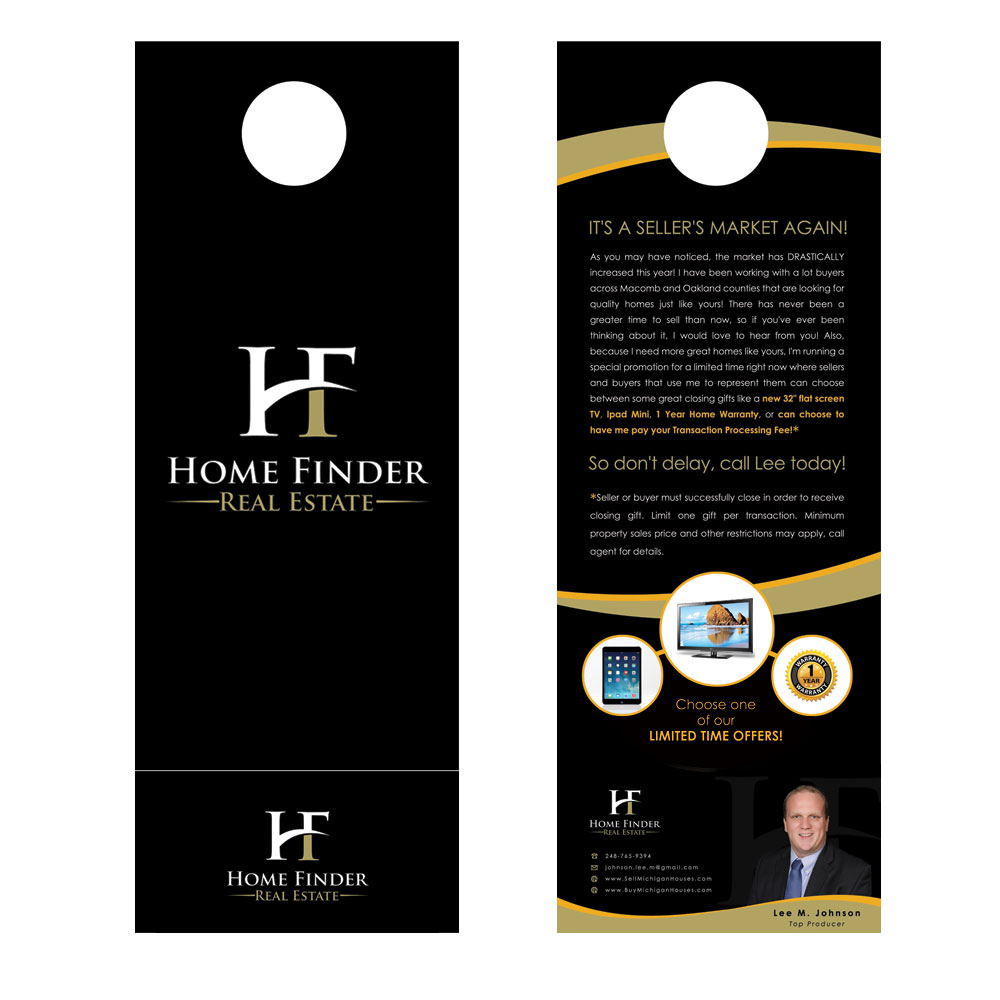 door hanger design real estate. Flyer Hanger Door Design Real Estate Best Formats And Cover Letters For Your Business