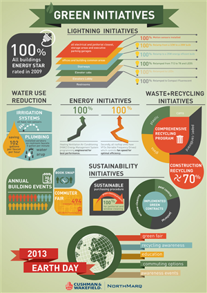 Flyer Design by RenDez - Centennial Lakes Green Initiative Infographic