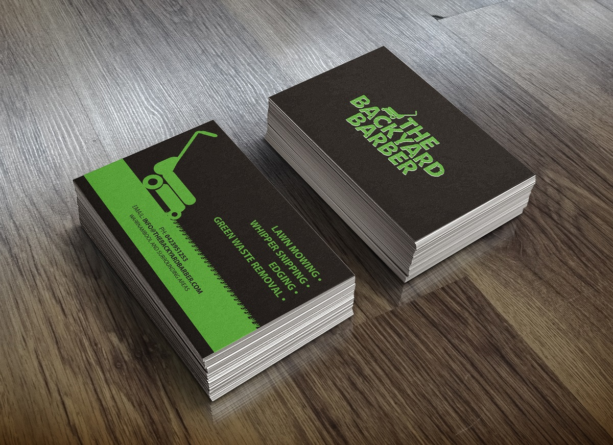 Bold, Modern, Barber Business Card Design for the backyard barber by ...