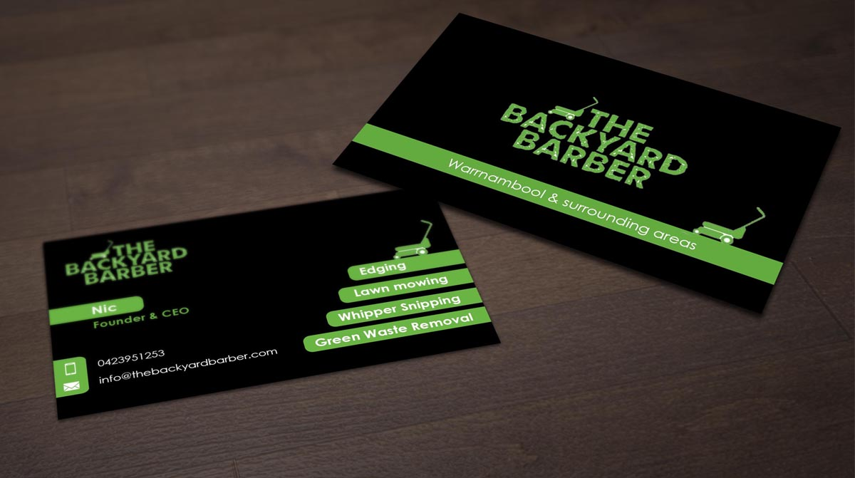 Bold, Modern Business Card Design for the backyard barber by ...