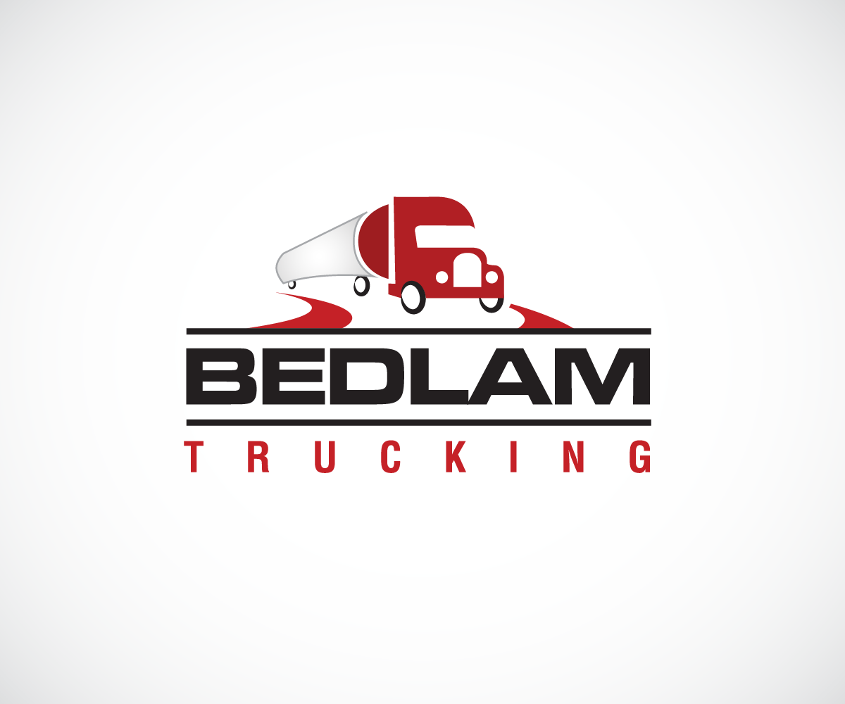 logo design for bedlam trucking by wolf design 3960474