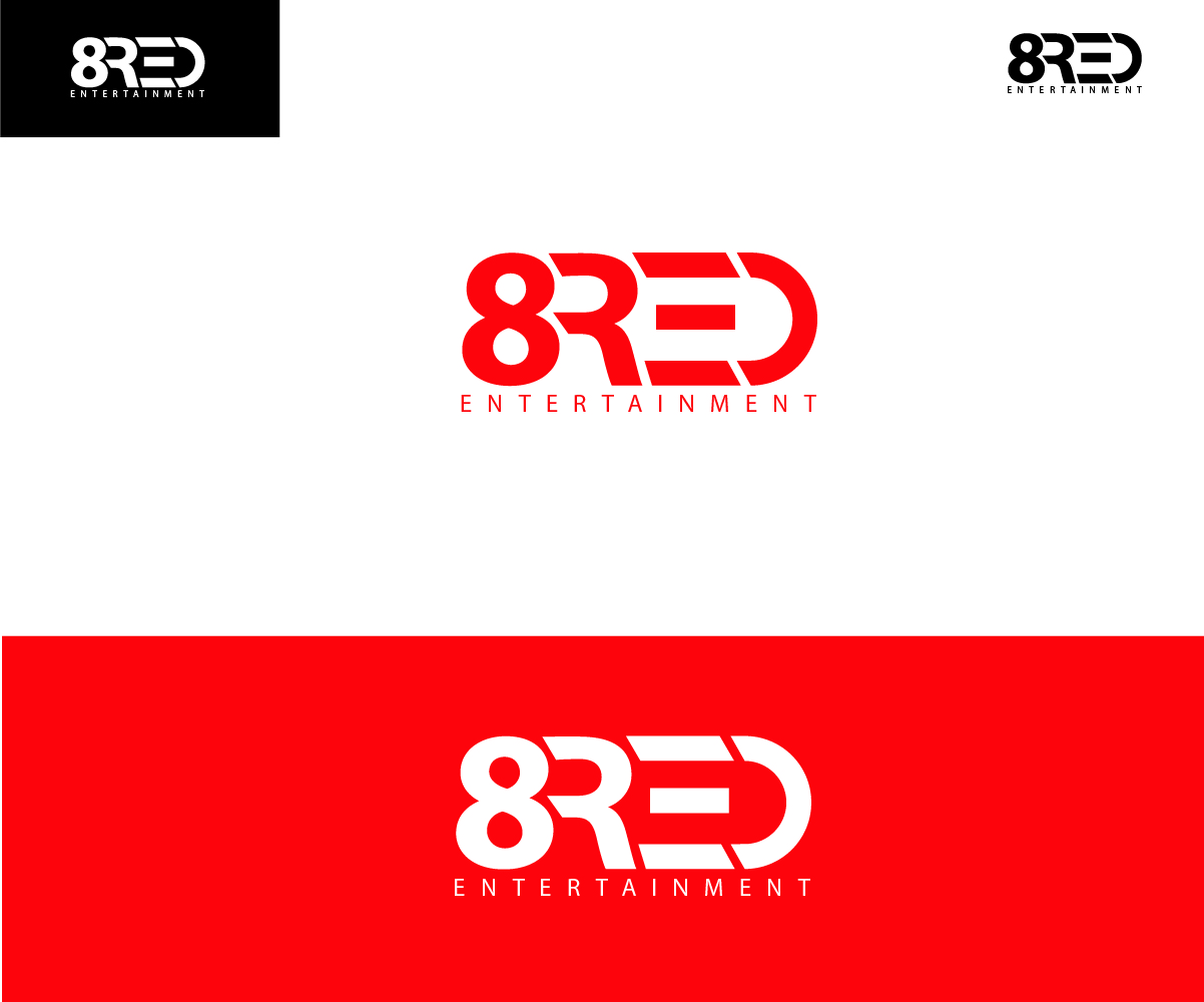 playful modern entertainment logo design for 8red entertainment by