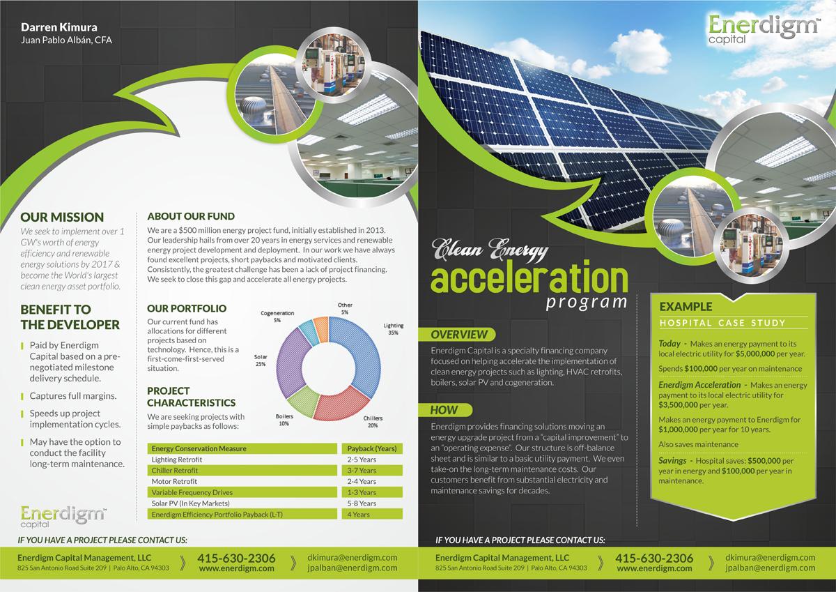 professional modern finance brochure design for enerdigm ventures