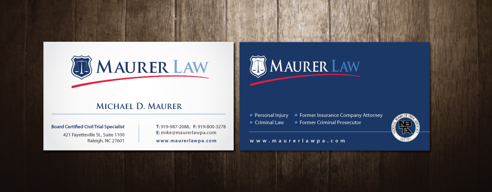 Law firm business card design for a company by meet007 design 3945753 business card design by meet007 for this project design 3945753 reheart Images