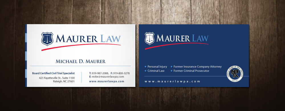 Law firm business card design for a company by meet007 design 3945818 business card design by meet007 for this project design 3945818 reheart Gallery
