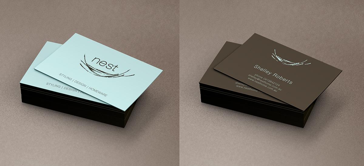 interior design decoration business card design
